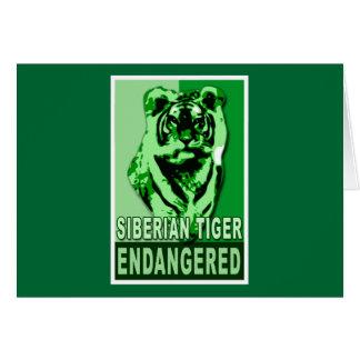 Endangered Siberian Tiger Pop Art Tshirts Card