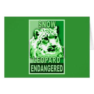Endangered Snow Leopard Pop Art Tshirts Card