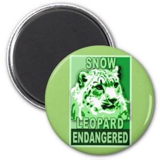 Endangered Snow Leopard Pop Art Tshirts Magnet