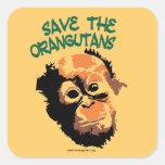 Endangered Species Conservation Square Sticker