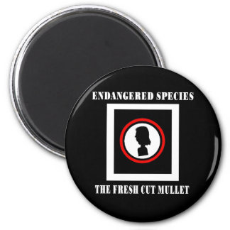 Endangered Species-The Fresh Cut Mullet 2 Inch Round Magnet