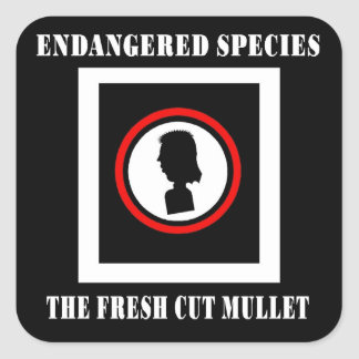 Endangered Species-The Fresh Cut Mullet Square Sticker