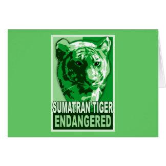 Endangered Sumatran Tiger Pop Art Tshirts Card