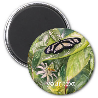 Endangered Tropical Butterflies Fine Art 2 Inch Round Magnet