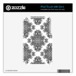 Endearing Damask iPod Touch 4G Decals