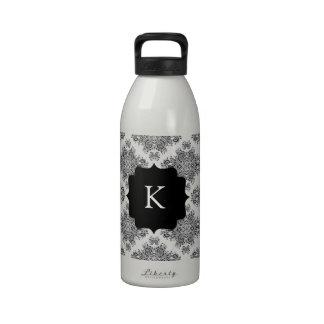 Endearing Damask Reusable Water Bottles