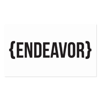 Endeavor - Bracketed - Black and White Double-Sided Standard Business Cards (Pack Of 100)