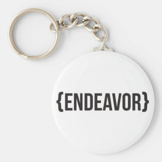 Endeavor - Bracketed - Black and White Keychain
