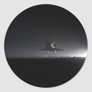 Endeavour Comes Home Classic Round Sticker