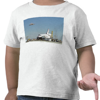 Endeavour on Runway with Columbia on SCA Overhea T Shirt