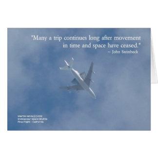 Endeavour Space Shuttle | Famous Words Card