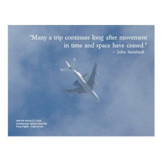 Endeavour Space Shuttle | Famous Words Postcard
