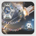 Endeavour Tribute Square Sticker