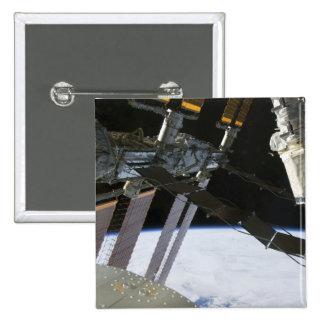 Endeavour's arm amidst International Space Stat Button