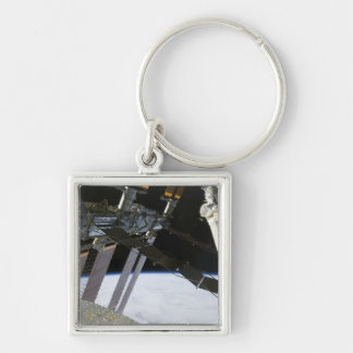 Endeavour's arm amidst International Space Stat Keychain