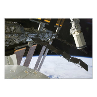 Endeavour's arm amidst International Space Stat Photo Print
