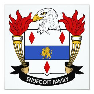 Endecott Family Crest 5.25x5.25 Square Paper Invitation Card