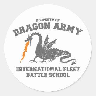 ender dragon army classic round sticker