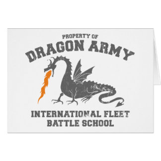 ender dragon army - ender's game greeting card