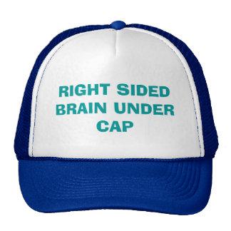 Enderece el cerebro echado a un lado debajo del gorros bordados