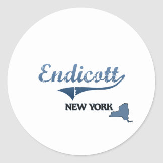 Endicott New York City Classic Classic Round Sticker