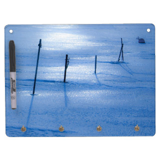Endless blue ice dry erase board with keychain holder