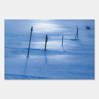 Endless blue ice sign