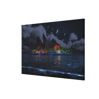 Endless Blue (Night) Canvas Print