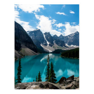Endless blue skies above majestic mountains postcard