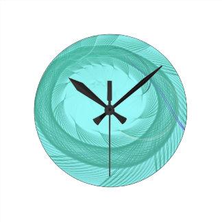 Endless Fish Tail Round Clock