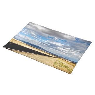 ENDLESS HIGHWAY THROUGH HIGH DESERT PLACE MATS