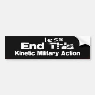 Endless Kinetic Military Action Bumper Sticker