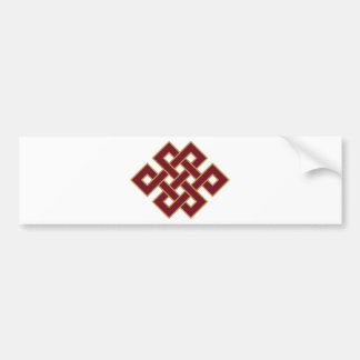 Endless knot bumper sticker