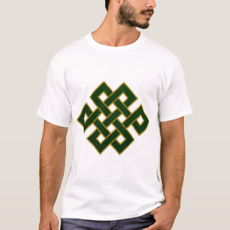 Endless Knot (emerald green and gold) T-Shirt