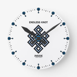Endless Knot Inside (Psyche) Round Clock