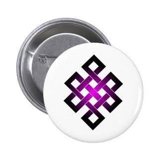 Endless knot pinback button