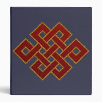 Endless Knot (red and gold) 3 Ring Binder