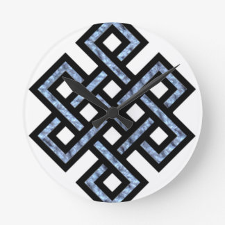 Endless knot round clock
