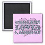 Endless Love and Laundry Fridge Magnets
