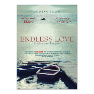 ENDLESS LOVE poster movie style 5x7 Paper Invitation Card