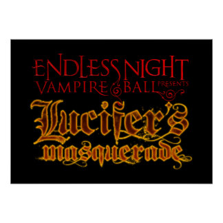 Endless Night: Lucifer's Masquerade 2010 Deluxe Poster