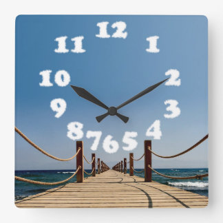 Endless Path Holiday Clouds - Wall Design Clock
