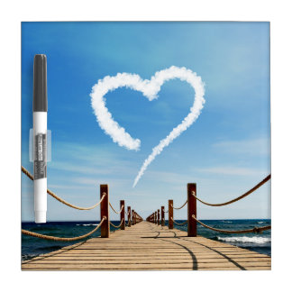 Endless Path with Heart Cloud - Dry Erase Board