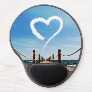Endless Path with Heart Cloud - Gel Mousepad