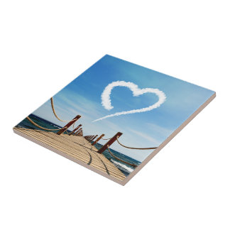 Endless Path with Heart Cloud - Tile