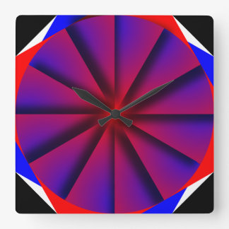 Endless Pinwheel by Kenneth Yoncich Square Wall Clock