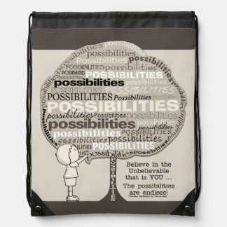 Endless Possibilities Drawstring Backpack