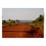 Endless red dirt road card