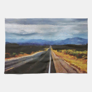 Endless Road - New Mexico. Hand Towel