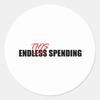 Endless Spending Classic Round Sticker